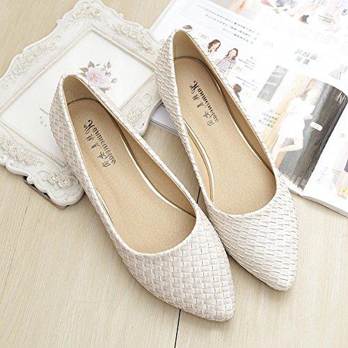 &qq Bas plat pointu, unique chaussures chaussures dames, chaussures de mode 40