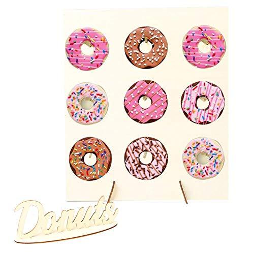 Holz Donut Stand, Donut Display Halter Steht, Hochzeit Lieferungen, Home Crafts, Baby Kids Shower Party Dekoration, Kann 9 Donuts Halten - Donut-display