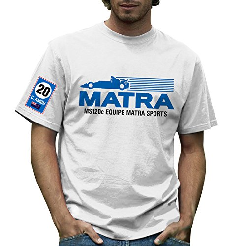 Retro Formula 1 - T-shirt - Homme Blanc Blanc - Blanc - Blanc - Large