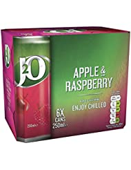 J2O Apple & Raspberry Cans, 250 ml (Pack of 6)