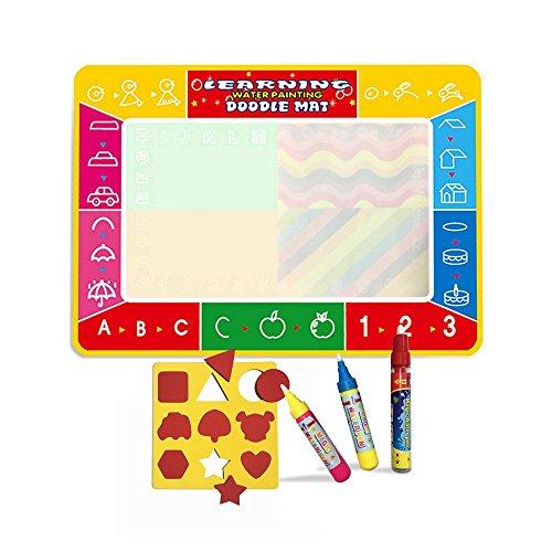Grand Doodle tapis(100*73CM) avec 3 stylos,Des gamins Eau tableau Doodle Scribble Boards Tool(Pattern)