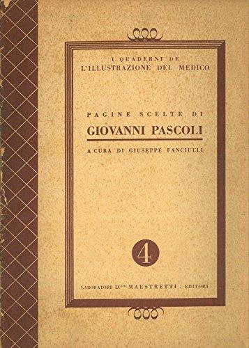 Pagine scelte di Giovanni Pascoli.