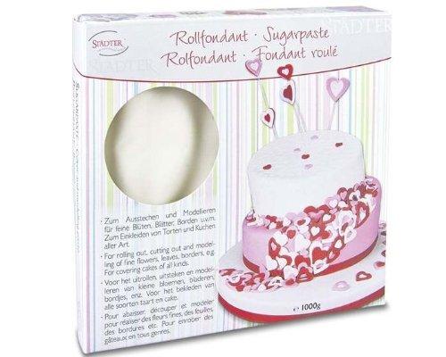 Fondant, Rollfondant, Sugarpaste, in Weiß 1000g zur Tortendekoration