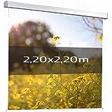 KIMEX 042-3624 Pantalla de proyección motorizada 2,20 x 2,20 m, Formato 1:1, Tela blanca