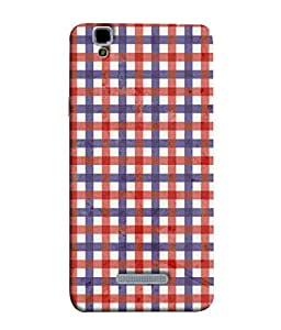 PrintVisa Designer Back Case Cover for YU Yureka :: YU Yureka AO5510 (Red And Blue Checks Design)