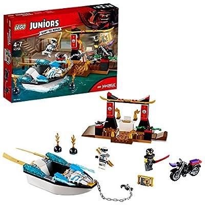 LEGO 10755 Juniors Zane's Ninja Boat Pursuit Building Set, Action Bath Toy