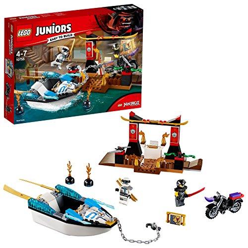 Machen Turtle Kostüm Ninja - LEGO Juniors 10755 - Zanes Verfolgungsjagd mit dem Ninjaboot, Kinderspielzeug
