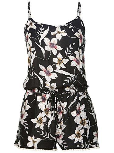 O'Neill Damen Beach Print Playsuit Streetwear Kleider black aop w/ pink 2