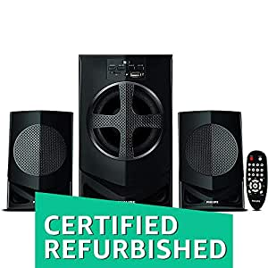(CERTIFIED REFURBISHED) Philips IN-MMS2030F/94 2.1 Home Theater Speakers System (Black)