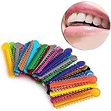 Fernando feliz 40 Unids/Pack Dental Elastomérico Ligadura Corbatas Ortodoncia Elasticos Bandas de Goma Cuidado de Dientes Anillo de Color Múltiple