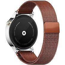 Fulltime (TM)–Milanese Banda de acero inoxidable de lazo magnética para hombre 46mm Moto 3602nd reloj, mujer hombre, café, Length: 135-230mm,Width:22mm