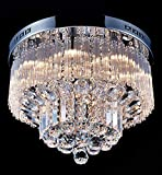 SAINT MOSSI Lampadario Classico in Cristallo Lampadari Moderni Lampadario da Soffitto Lampadario Cristallo Moderno Lampada Plafoniera 12 X 25W G9 non incluse [Classe di efficienza energetica A+++]