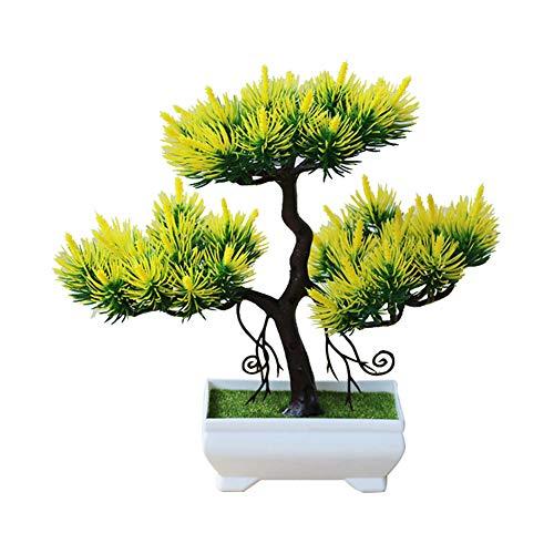 ZqiroLt Künstlicher Baum, Topfpflanze, Bonsai, Bühne, Garten, Hochzeit, Party-Dekoration (Party Teal Dekorationen)