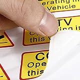 YONGYAO 6Pcs Car Taxi Adesivo Segni Decalcomania Cctv Operativo In Questo Veicolo