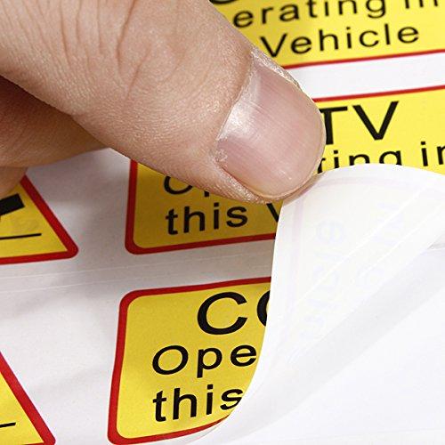 Alamor 6Pcs Voiture Taxi Autocollant Signes Décalque Cctv Opérant Dans Ce Véhicule