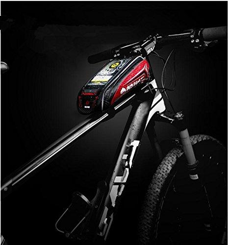 FAN4ZAME Fahrradtasche Rohrbündel Vorderer Träger Pack Handy Tasche Wasserdicht Touchscreen Mountainbike Sattel Tasche C