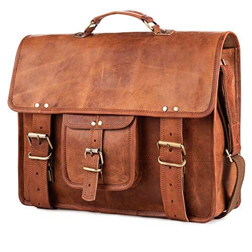 Berliner Bags Berlin XL Umhängetasche aus Leder Messenger Aktentasche Tragetasche Laptoptasche 15,4 Zoll Ledertasche Vintage Arbeitstasche...