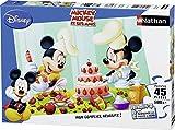 Nathan 86465 - Puzzle Enfant Classique - Mickey - Après-midi Pâtisserie - 45 Pièces
