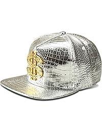 c5980c07ab0e9 mcsays moda hip hop estilo Crystal CZ colgante de dólares con helado  snapback Bling Bling piel