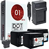 3X DOT-01 Brand Canon HF R800 Batteries And Charger For Canon HF R800 Camcorder And Canon HFR800 Battery And Charger Bundle For Canon BP718 BP-718