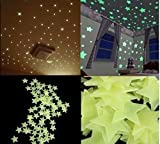 100Pzas Luminoso pegatinas de pared Estrellas Luminosas Pegatina Pared Fluorescente Brilla Oscuridad PVC