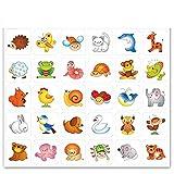 Sticker für Garderobe und Bildtafel 'Tiermotive'