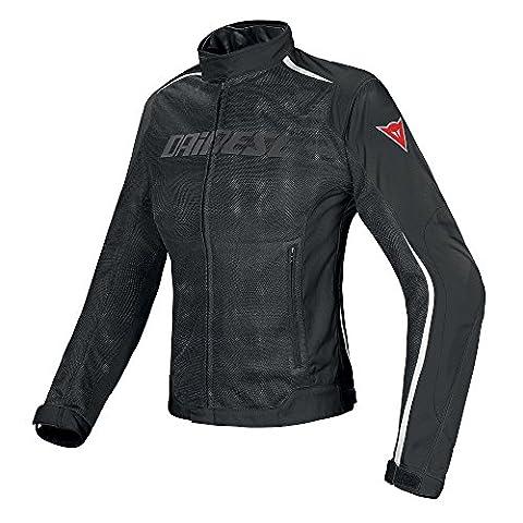 Dainese Hydra Flux Damen Frauen D-Dry Motorradjacke, Schwarz/Weiß, Größe