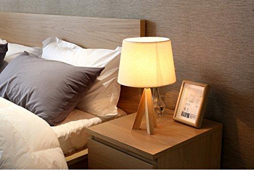 Kreative Tischlampe, Nachttischlampe,Leselampe Lesen Moderne Minimalistische Stehlampe Vollholz Augenschutz Nachtlicht