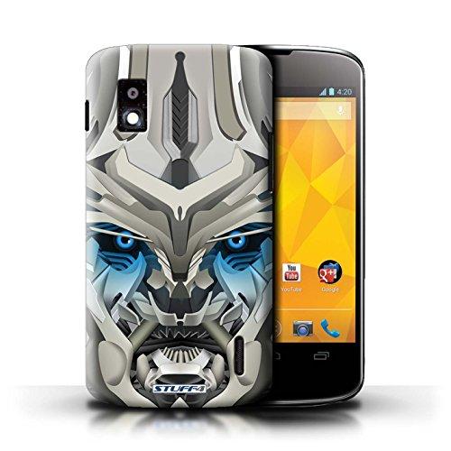 Kobalt® Imprimé Etui / Coque pour LG Nexus 4/E960 / Bumble-Bot Bleu conception / Série Robots Mega-Bot Bleu