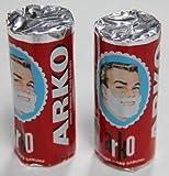 Arko Shaving Soap Stick, White, Pack of 2