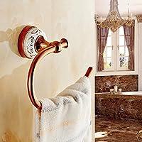 XXTT-Anello di tovagliolo di stile europeo, piccolo asciugamano rack, asciugamano oro rosa anello bagno asciugamano ganci, ganci