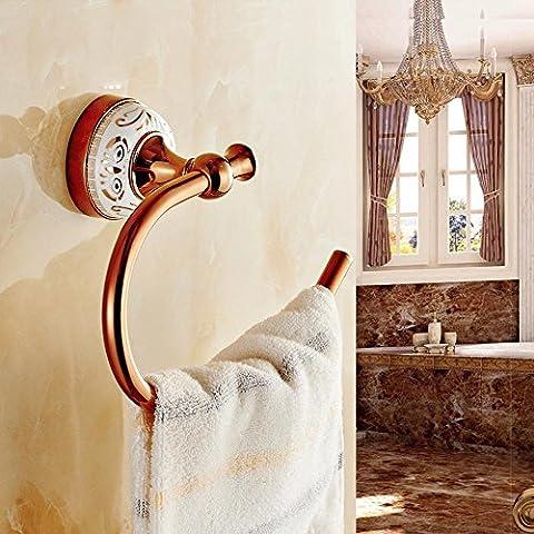 Style européen ssby Anneau porte-serviettes, or rose Anneau porte-serviettes de salle de bain serviette crochets crochets, petit Serviette Racks,