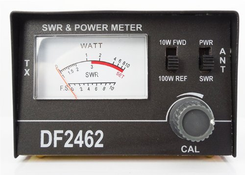 Akord Swr Meter For Cb Antenna Radio Power Dual Range Metal Cabinet