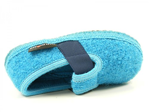 Pantofole Unisex Per Bambini Haflinger Joschi Blu
