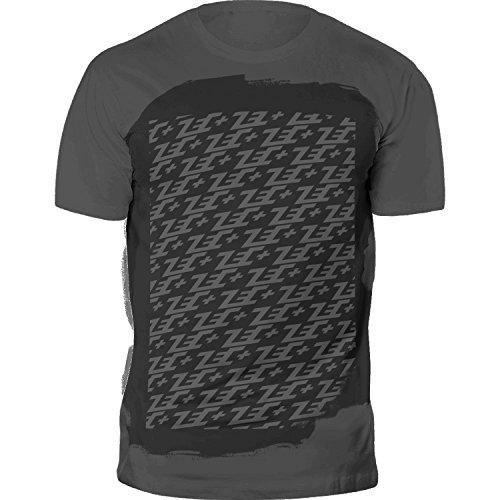 ZEC+ Herren T-Shirt Fitness MULTILOGO in GREY aus 100% Baumwolle Grau