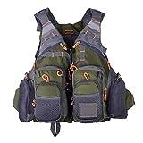 Dynamovolition Comoda giacca multifunzionale da pesca per pesca con canottiera da pesca a canne estraibili a rapida asciugatura