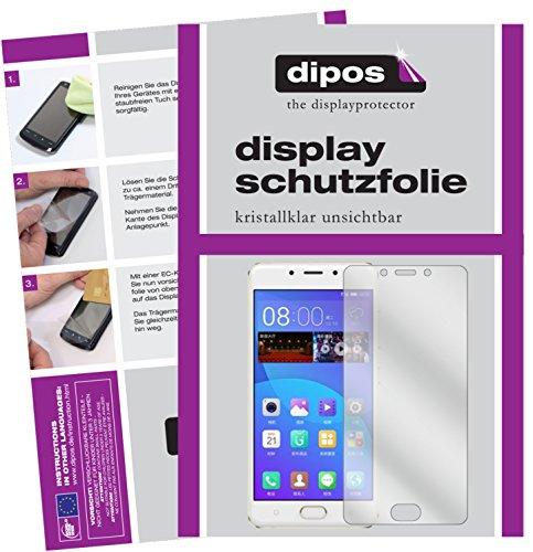 dipos I 2X Schutzfolie klar passend für Gionee F5 Folie Bildschirmschutzfolie