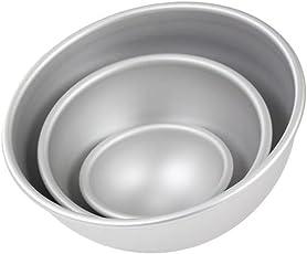 PME Set von 3Ball Kuchen Pfannen 4in 6in & 8in–Ball Pfanne Set–Professional Bakeware