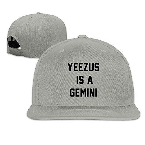 huseki-custom-yeezus-is-a-gemini-flat-baseball-caps-hats-ash
