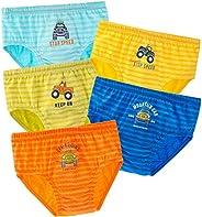 Kereda - Calzoncillos de algodón para niños, juego de 5 unidades, para niños de 2 a 7 años