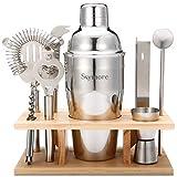Skymore 9PCS Kit Bar Tool Set, INOX, Pilon Mojito et Cuillère à Cocktail, Cadeau pour V, Petit