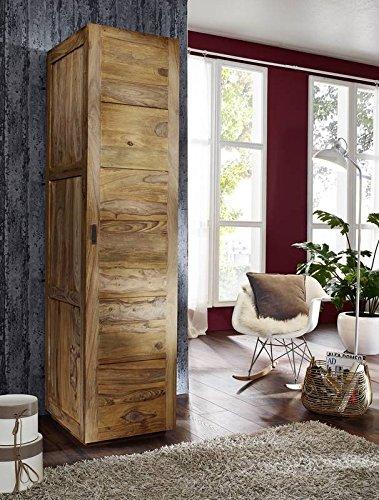 MASSIVMOEBEL24.DE Sheesham massiv Holz Möbel geölt Kleiderschrank Palisander massiv Möbel Massivholz braun Nature Brown #502