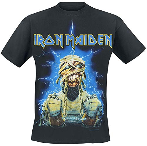 Iron Maiden Powerslave Mummy Camiseta Negro L