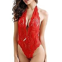 Lace Babydoll Underwear , YanHoo Women Sexy Plus Size Red Color hot sleepwear (Red, XL)