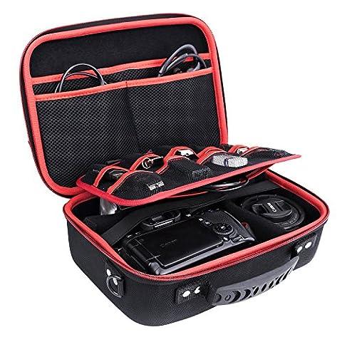 Ropch Aufbewahrungstasche Elektronik Zubehör Tasche Speicher Tragen Beutel-Kasten Reisetasche Mehrfachfunktion