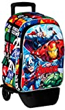 Avengers Assemble Mochila con Carro Plegable, Ruedas, Trolley