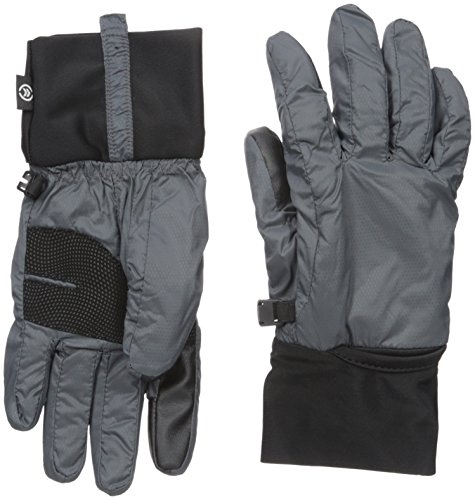 Isotoner Women's SleekHeat Packable Cuff smarTouch Gloves,  Charcoal,  Large