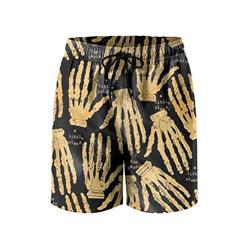 Funny Halloween Pumpkin Cute Fashion Mens Beach Shorts,Shorts Size M