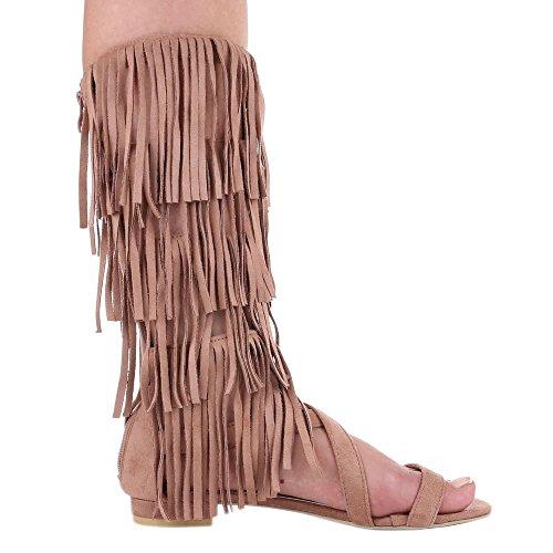 Ital-Design - Scarpe con cinturino alla caviglia Donna Rosa antico