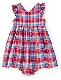 94ef2b14c487 Ralph Lauren Baby Girls  Madras Pattern Cotton Dress and Bloomer Set